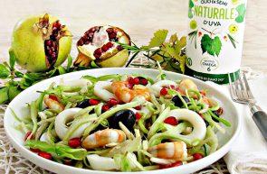 insalata di puntarelle con Olio di Semi d'Uva Naturale Piave 1938