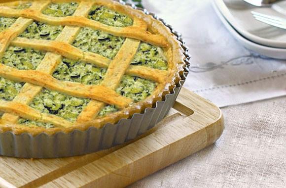 Torta salata alla ricotta e zucchine senza burro olio di semi di mais Piave