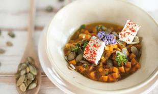 Zuppa fredda di carote e caprino